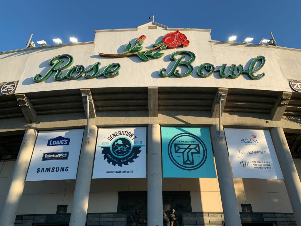 Signage for the Rose Bowl