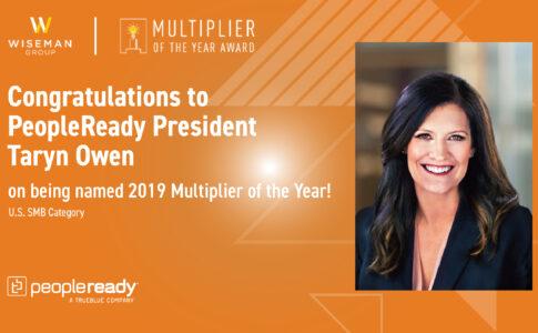 PeopleReady President Taryn Owen Wins Multiplier of the Year Award