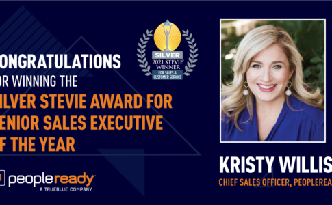 PeopleReady's Kristy Willis Wins 2021 Stevie Award for Senior Sales Executive of the Year