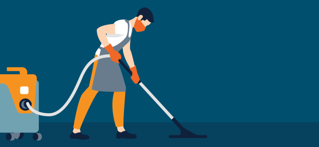 Cleaning staffing; janitorial staffing; vaccum