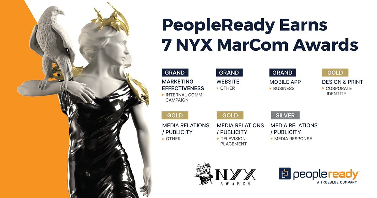 PeopleReady Honored with 7 NYX MarCom Awards