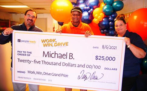 PeopleReady Celebrates Work, Win, Drive Sweepstakes Grand Prize Winner